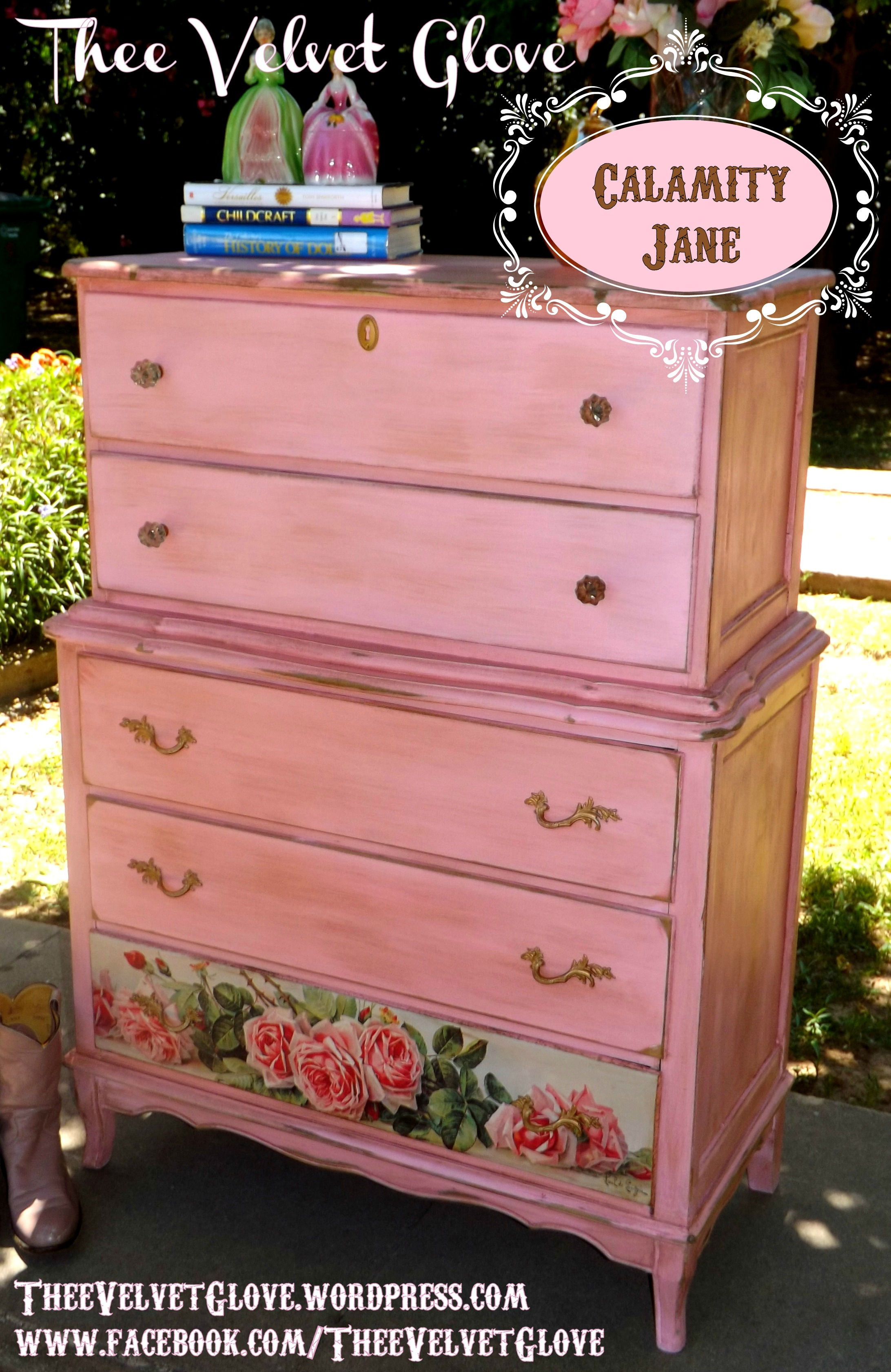 Fabulous Calamity Jane Collection ~ Distressed Pink Bedroom Set | Thee  CH39
