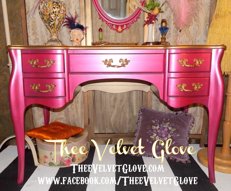 Painted Furniture Makeover Gold Metallic For 1463882422244007898748511929963n November 2013 Thee Velvet Glove