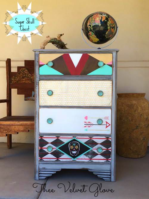 Sugar Skull Dresser by Thee Velvet Glove