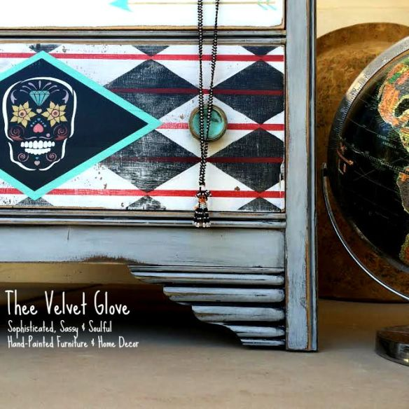 Sugar Skull Chest by Thee Velvet Glove