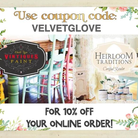Coupon Code - VELVETGLOVE