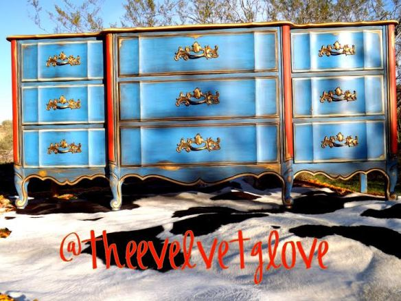 Thee Velvet Glove - Graceland Blue Dresser