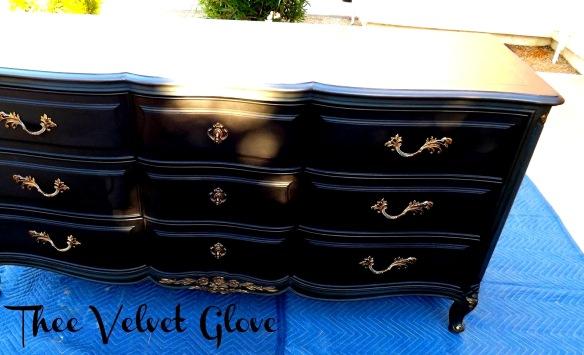 Black Henredon Dresser Thee Velvet Glove