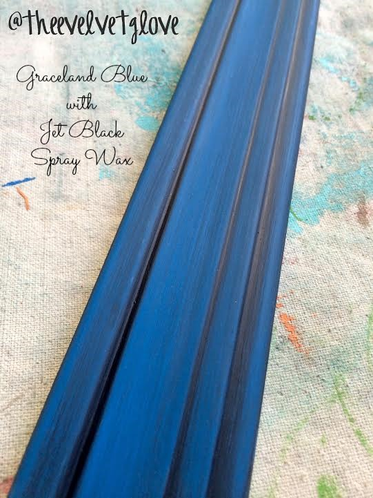 Graceland Blue with Jet Black Spray Wax